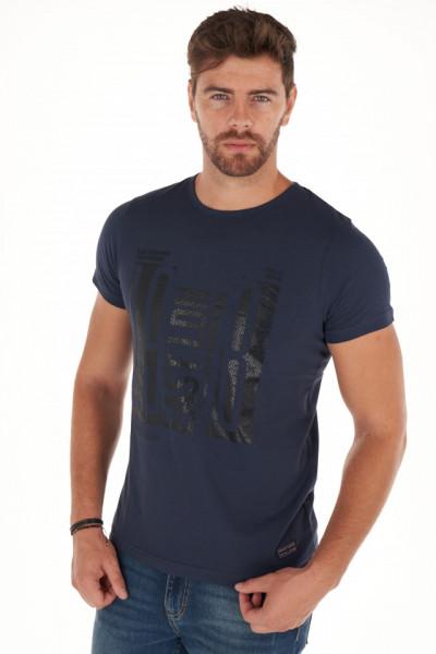 Lee Cooper - Tricou barbat cu imprimeu artistic lucios