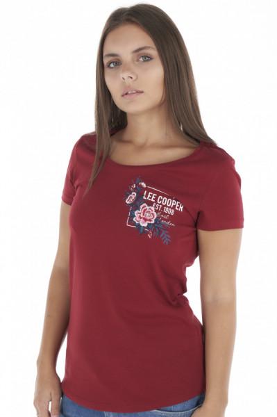 Lee Cooper - Tricou dama maneca scurta si model floral