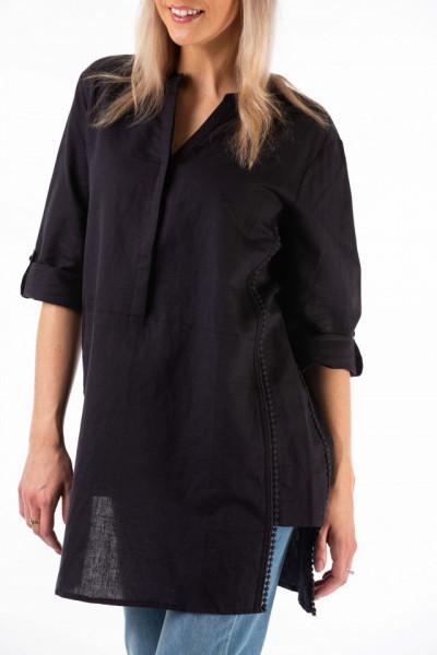 Montecristo - Camasa lunga din in tip tunica cu detalii in lateral