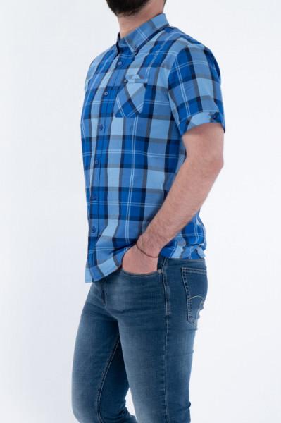 Timeout - Camasa maneca scurta cu imprimeu si nasturi aplicati pe maneca