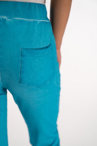 Timeout - Pantaloni trening aspect prespalat acid cu lungime 3/4