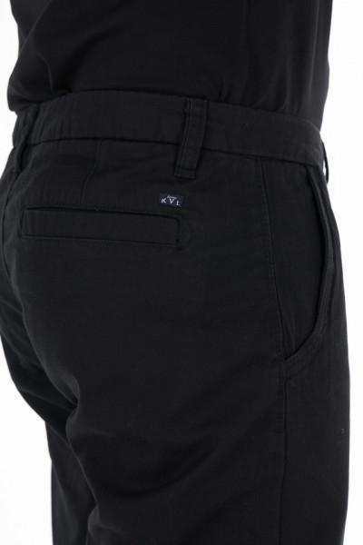 KVL - Pantaloni lungi barbat din bumbac culoare uniforma