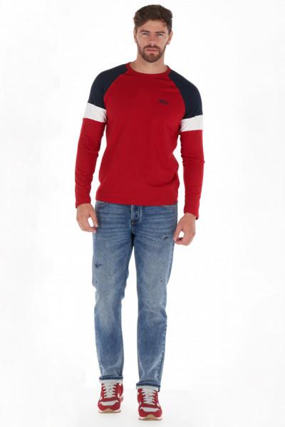 Lee Cooper - Bluza barbat din bumbac cu detalii contrastante