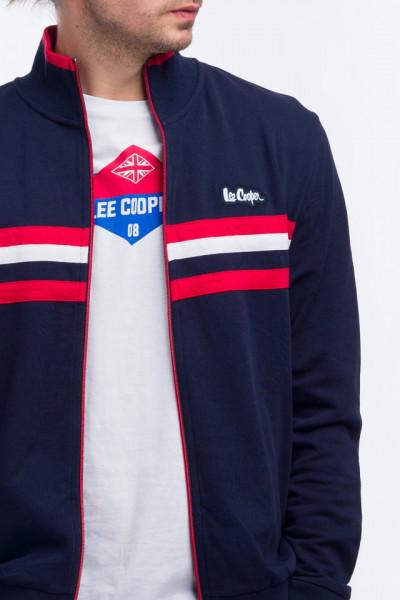 Lee Cooper - Bluza maneca lunga cu fermoar si logo aplicat