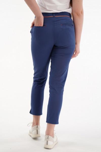 Lee Cooper - Pantaloni chino cu lungime 3/4 si detaliu brodat in talie