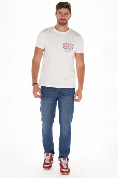 Lee Cooper - Tricou barbat cu maneca scurta si model texturat