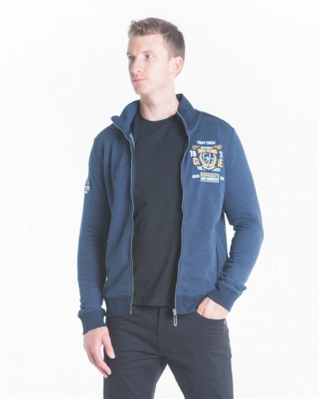 Timeout - Bluza barbat cu fermoar si emblema brodata