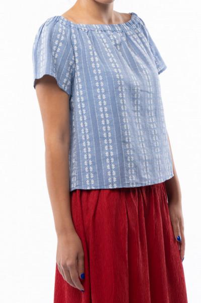 Timeout - Bluza dama cu umeri cazuti si imprimeu