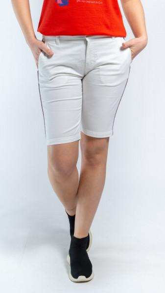KVL - Bermude dama cu buzunare si dunga in lateral