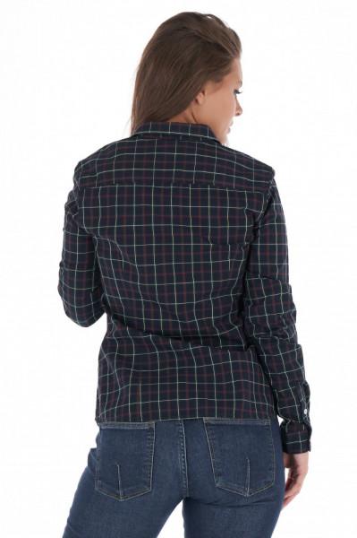 KVL - Camasa dama cu maneca lunga si imprimeu in carouri mari