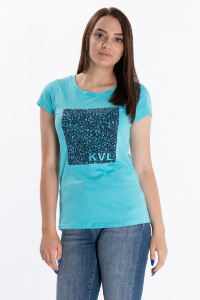 KVL - Tricou dama cu imprimeu floral si logo