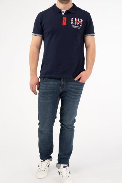 Lee Cooper - Blugi straight fit cu aspect usor decolorat