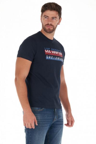 Lee Cooper - Tricou barbat din bumbac cu model logo imprimat