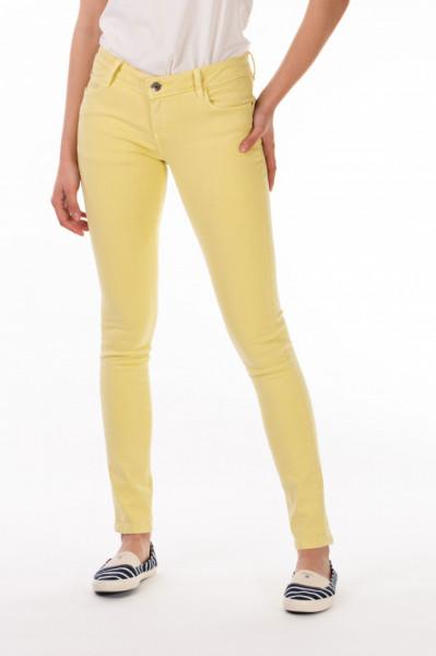 Timeout - Pantaloni lungi dama cu talie medie si culoare uniforma