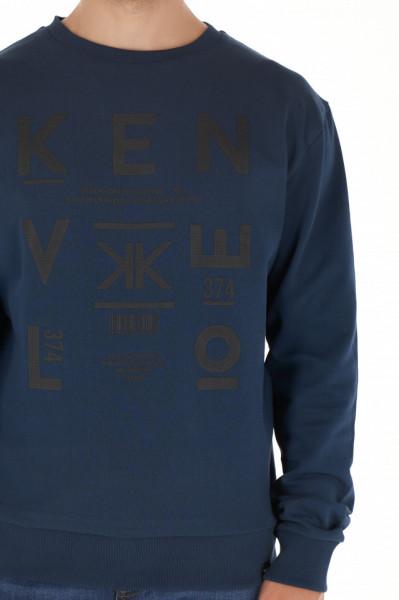 KVL - Bluza barbat cu maneca lunga si imprimeu texturat