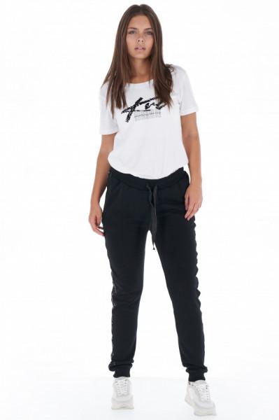KVL - Pantaloni de trening dama cu banda logo in lateral
