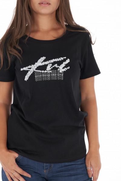 KVL - Tricou lejer dama cu logo si mesaj imprimat