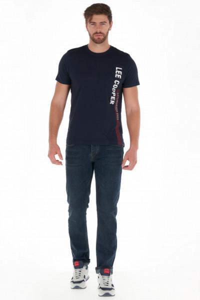 Lee Cooper - Tricou barbat cu maneca scurta si logo in lateral