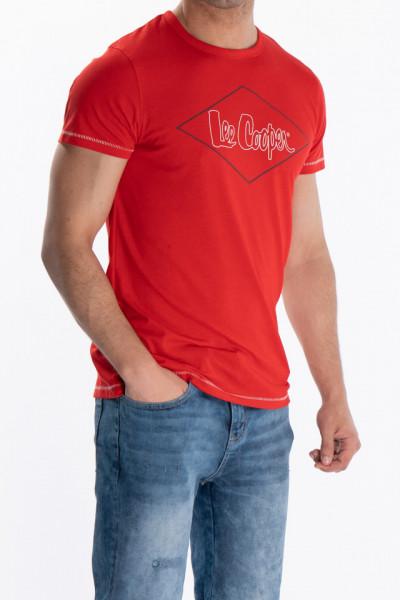 Lee Cooper - Tricou barbat din bumbac cu logo pe piept