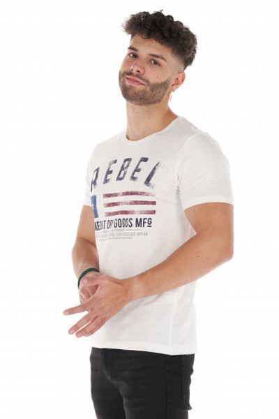 Timeout - Tricou barbat din bumbac cu model imprimat