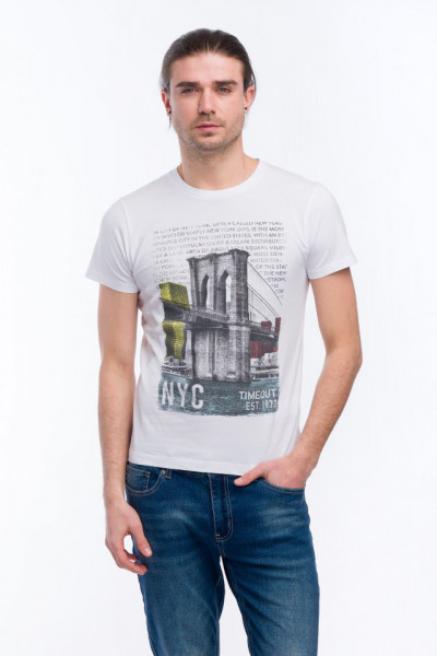 Timeout - Tricou din bumbac cu imprimeu artistic