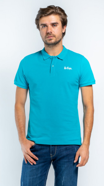 TRICOU MANECA SCURTA TIP POLO BARBAT ENZYME BLUE LEE COOPER