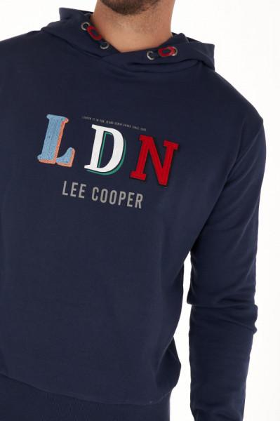 Lee Cooper - Hanorac barbat cu gluga si logo