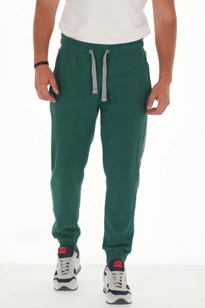 Lee Cooper - Pantaloni de trening barbat cu banda logo in lateral