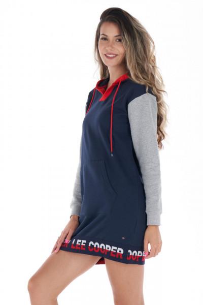 Lee Cooper - Rochie sport cu gluga si logo imprimat