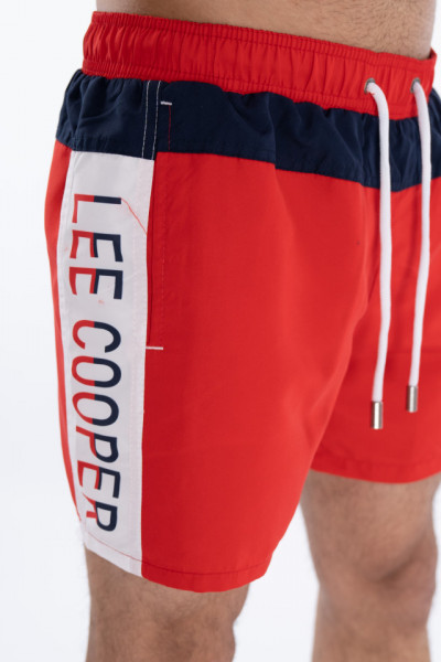 Lee Cooper - Sort de baie cu detalii logo in lateral