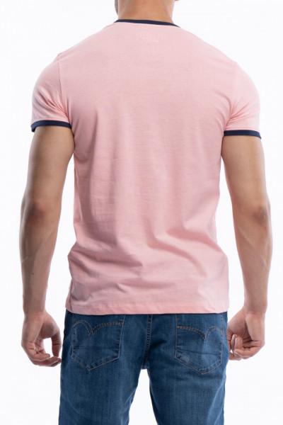 Lee Cooper - Tricou barbat cu imprimeu si margini contrastante