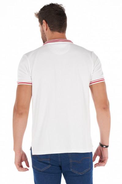 Lee Cooper - Tricou barbat tip polo cu margini contrastante si logo