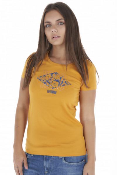 Lee Cooper - Tricou dama cu maneca scurta si model cu logo
