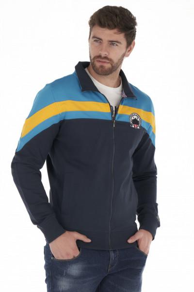 Timeout - Bluza barbat cu fermoar si logo brodat