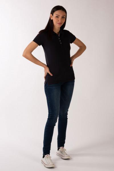Timeout - Tricou dama tip polo cu emblema brodata