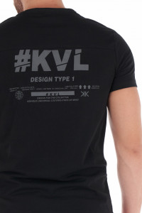 KVL - Tricou barbat cu logo si imprimeu pe spate
