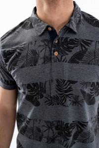 KVL - Tricou tip polo cu imprimeu tropical
