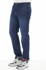 Lee Cooper - Blugi barbat regular fit de culoare inchisa