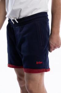 Lee Cooper - Pantaloni scurti barbat cu tiv intors si logo