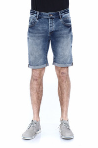 PANTALONI DENIM BERMUDA BARBAT MID BLUE TIMEOUT