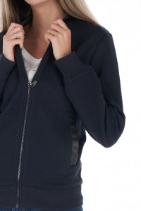 Timeout - Bluza dama cu detalii din piele ecologica
