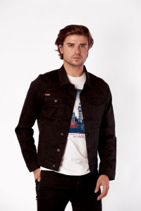 JACHETA DENIM DE GROSIME BARBAT BLACK LEE COOPER
