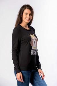 KVL - Bluza dama cu maneca lunga si imagine imprimata