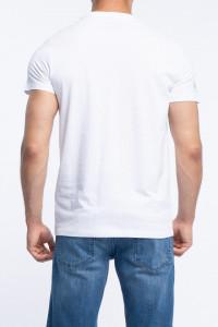 KVL - Tricou barbat cu imprimeu si detaliu logo pe umar