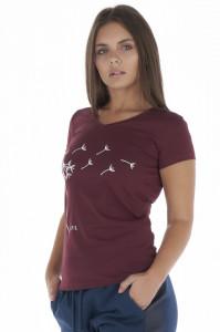 KVL - Tricou dama maneca scurta cu model si logo