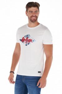 Lee Cooper - Tricou barbat cu maneca scurta din bumbac cu logo