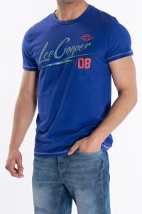 Lee Cooper - Tricou barbat cu maneca scurta si logo imprimat