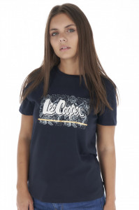 Lee Cooper - Tricou dama cu maneca scurta si logo