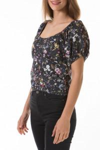 Martinez by Timeout - Camasa dama cu imprimeu floral si maneci bufante