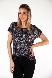 Montecristo - Tricou cu maneca scurta si imprimeu floral lucios